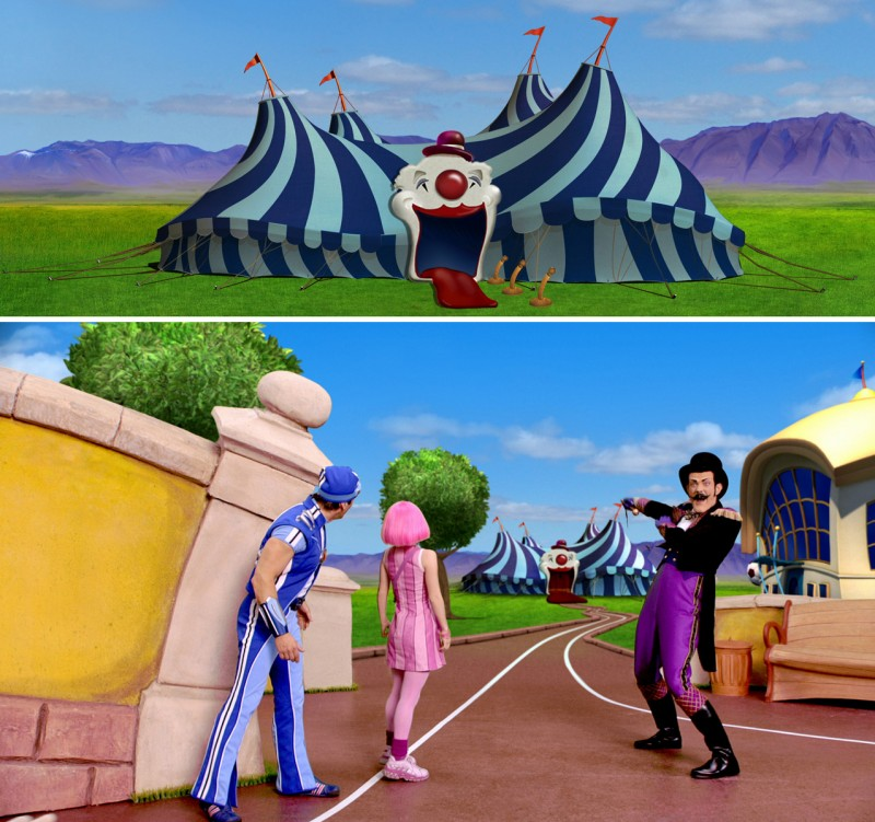 Circus comes to Lazy Town