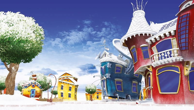 winter in Lazy Town (3D maps)