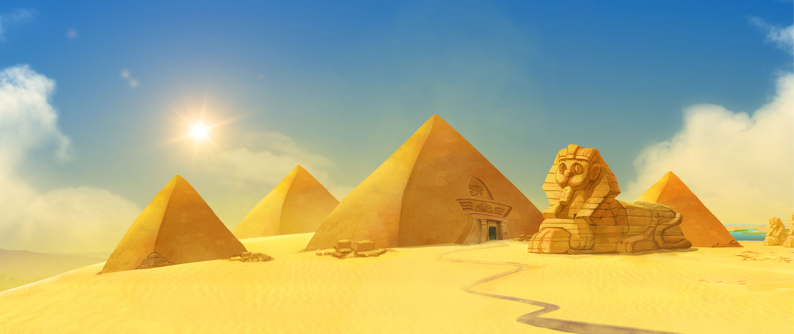 matte painting  how to build a pyramid