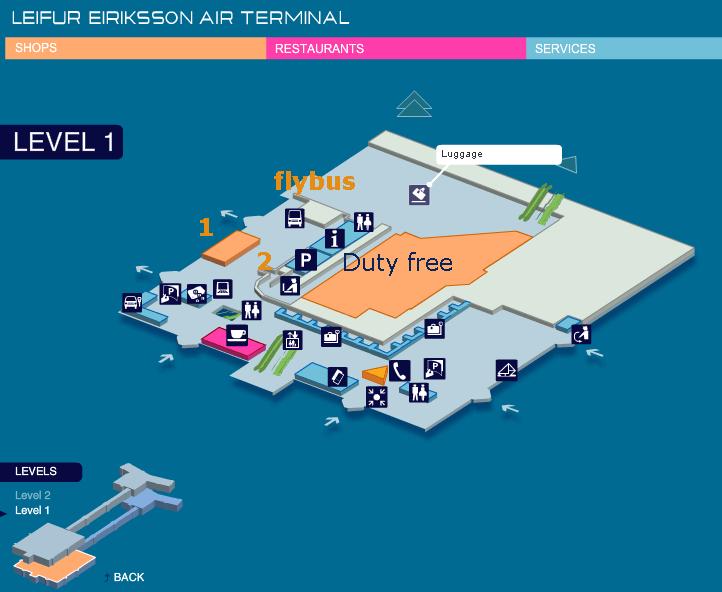Kef terminal level 1 map