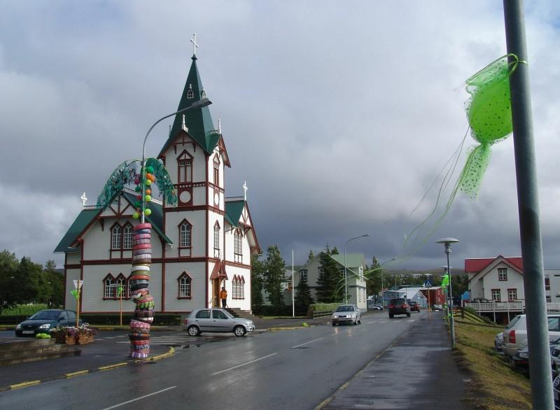 Streets of Husavik, Iceland