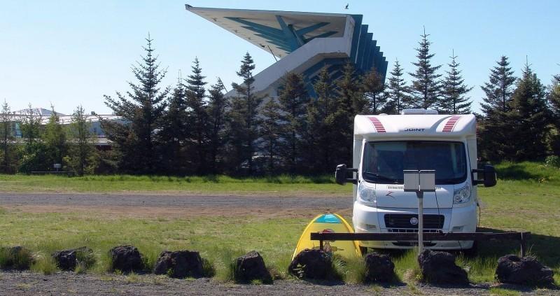 Reykjavik campsite - caravan area