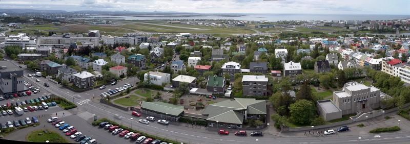 Reykjavik pano south