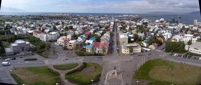 Reykjavik west pano