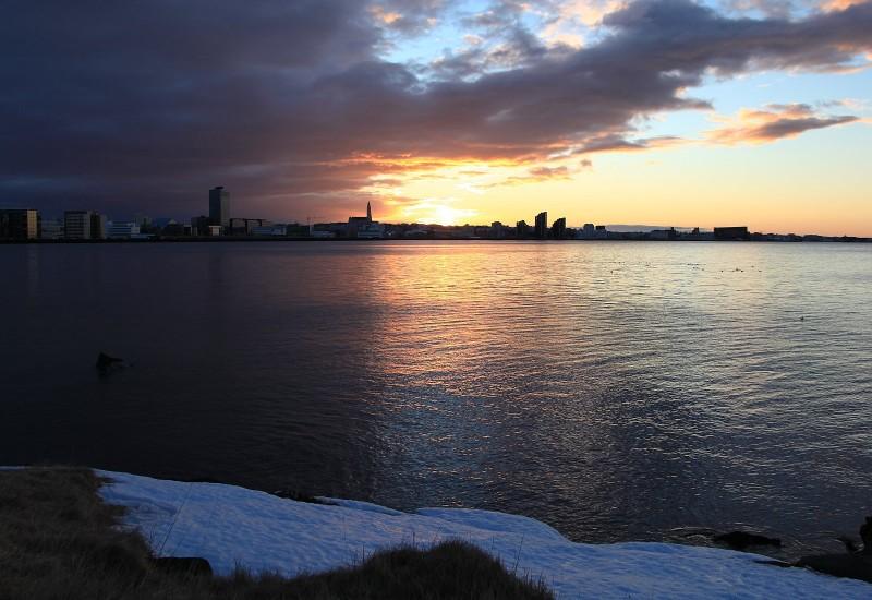 2011-02-18 Reykjavik, sunset