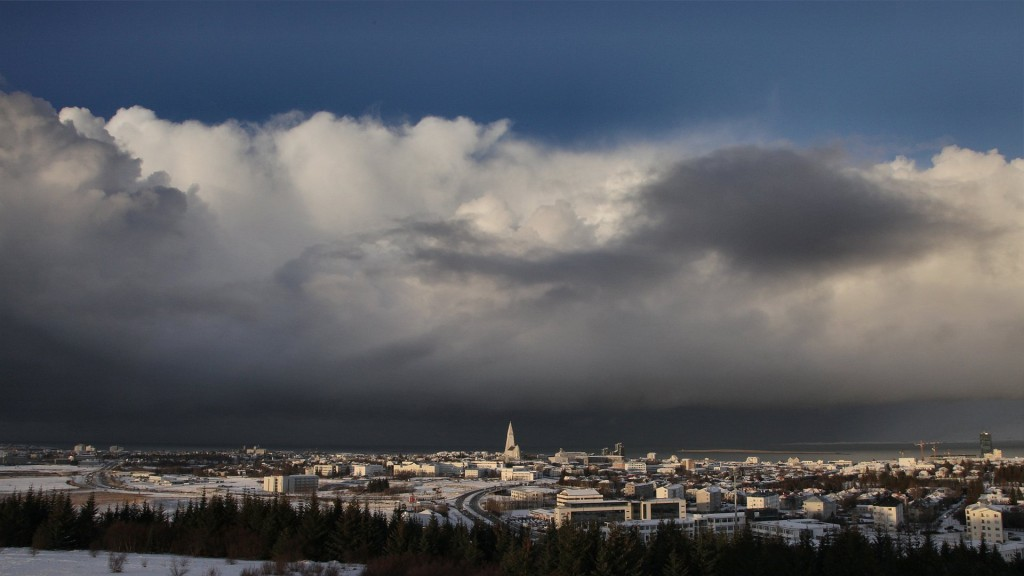 Cloud formation over Reykjavik