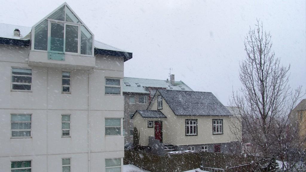 Рейкьявик, погода, снег