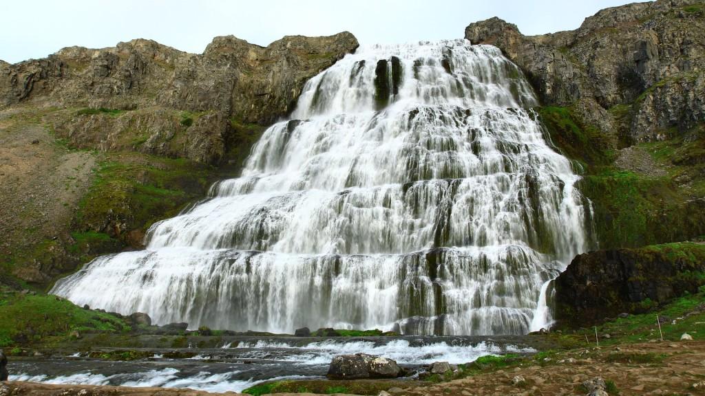 Iceland, Dynjandi, waterfall, Westfjords;
